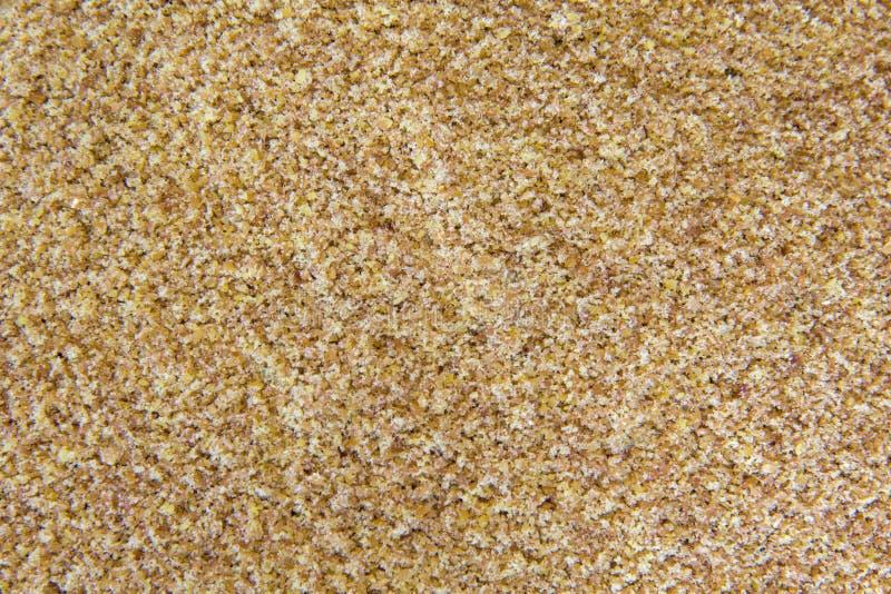 Zmielony Flaxseed fotografia stock