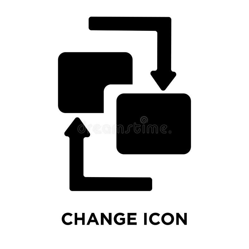 Zmienia ikona wektor odizolowywającego na białym tle, loga pojęcie ilustracji