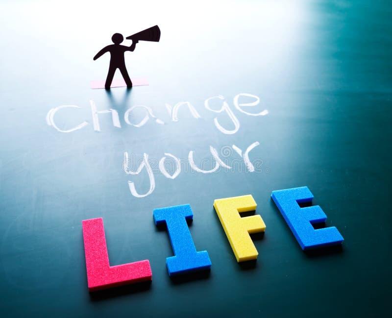Zmienia twój życia pojęcie obrazy royalty free
