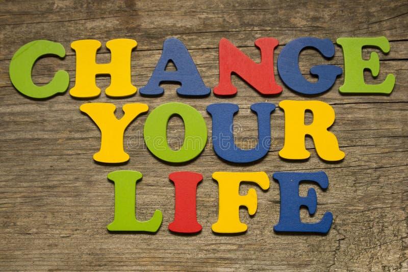 Zmienia twój życia pojęcie obrazy stock