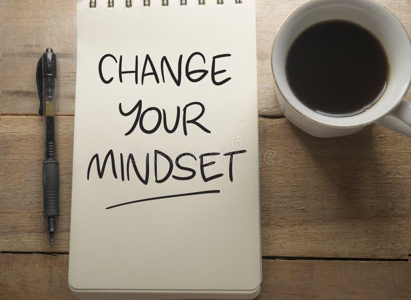 Zmienia Twój Mindset, Motywacyjny słowo wycen pojęcie zdjęcia royalty free