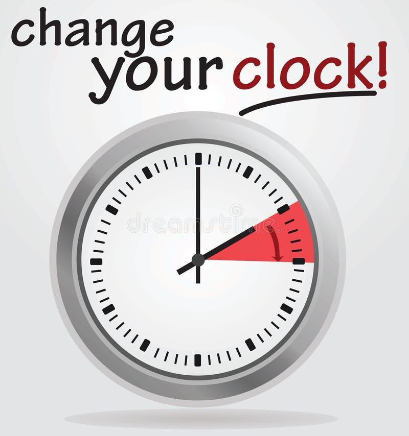 Zmienia twój zegarowego zawiadomienie ilustracji