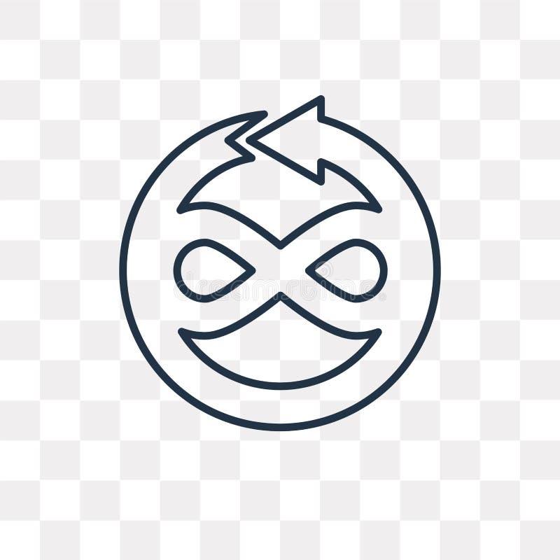 Zmienia wektorową ikonę odizolowywającą na przejrzystym tle, liniowy Ch ilustracja wektor