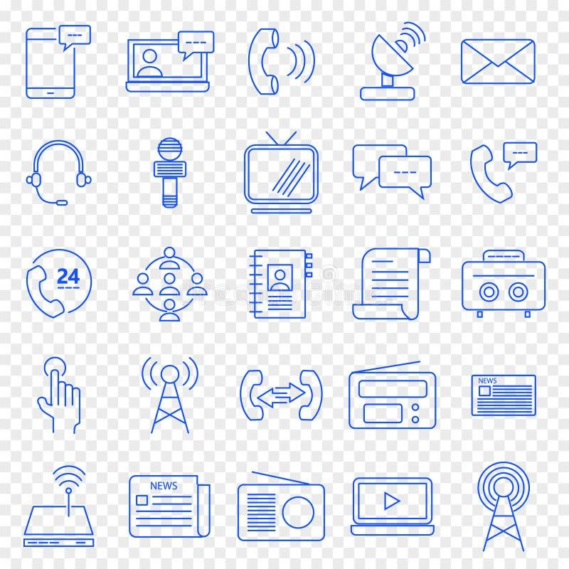 zmiennik barwi komunikacyjna ikona zawierać set 25 ikon Wektorowa paczka ilustracji