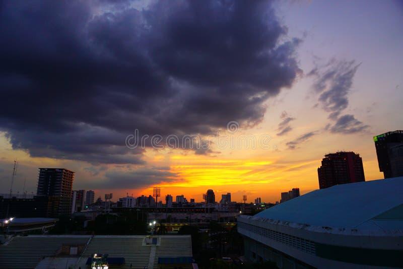 Zmierzch Bangkok Tajlandia fotografia royalty free