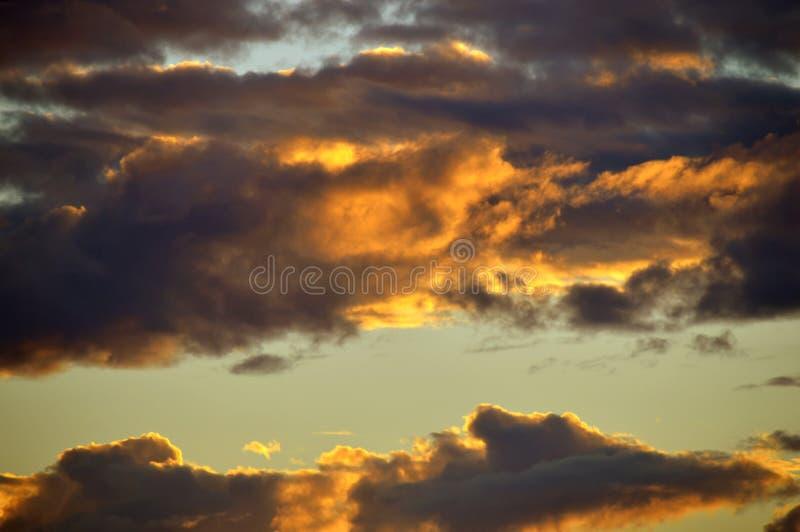 Zmierzch burzy chmury fotografia royalty free