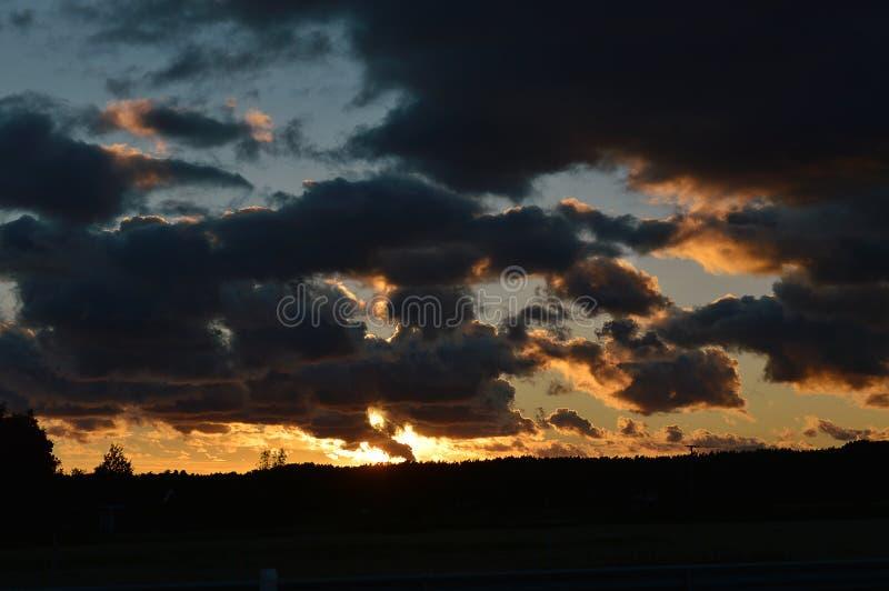 Zmierzch chmury obrazy royalty free
