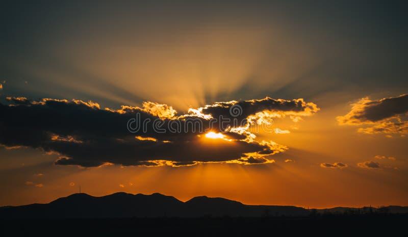 Zmierzch chmury obrazy stock