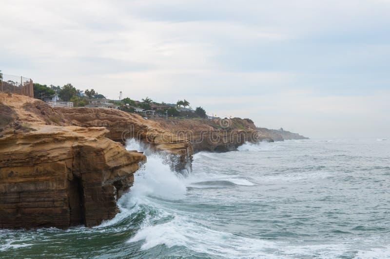 Zmierzch falezy w San Diego obrazy royalty free
