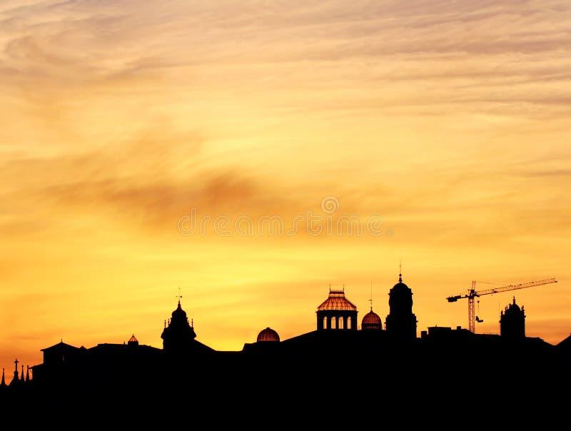 Zmierzch góruje w Porto zdjęcie stock