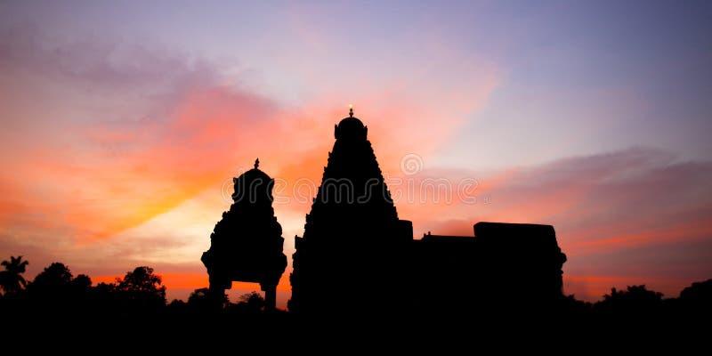 Zmierzch i rihadeeswarar świątynia fotografia royalty free