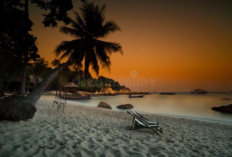 Zmierzch, Koh Tao wyspa zdjęcia stock
