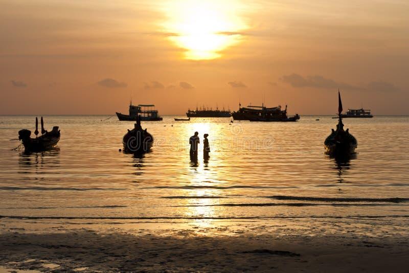 Zmierzch. Koh Tao wyspa, Tajlandia zdjęcia royalty free