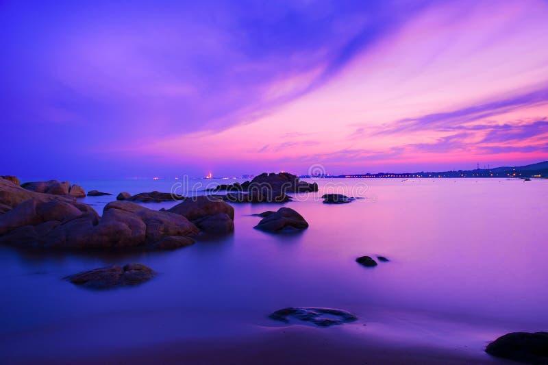 Zmierzch morze zdjęcie stock