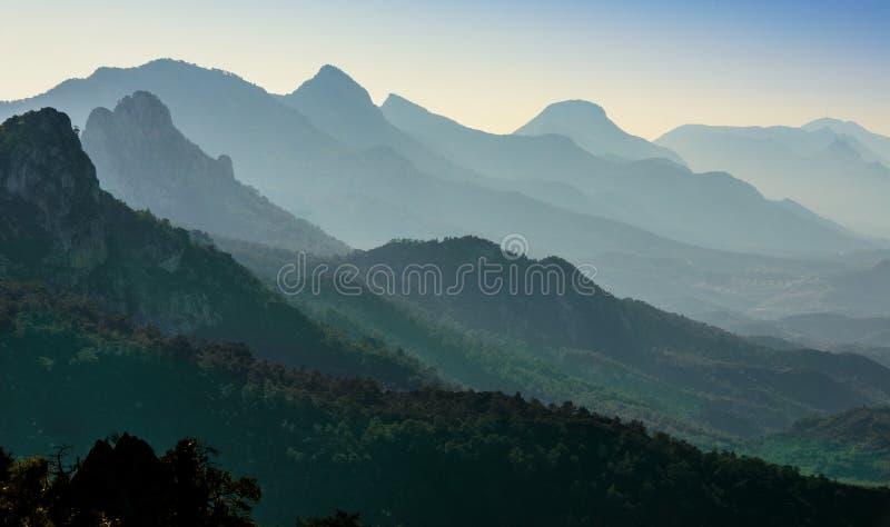 Zmierzch na kyrenia górach, północna cibora zdjęcie stock
