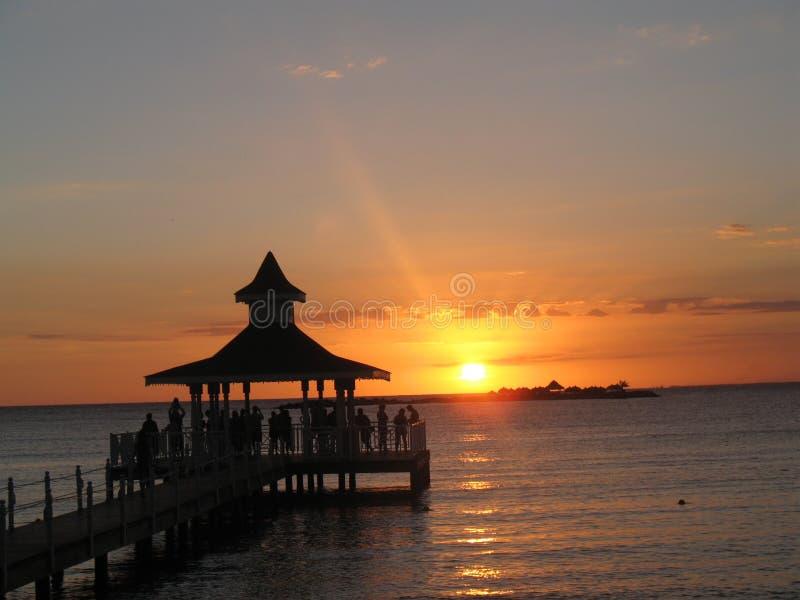 Zmierzch na plaży republika dominikańska 4 zdjęcia royalty free