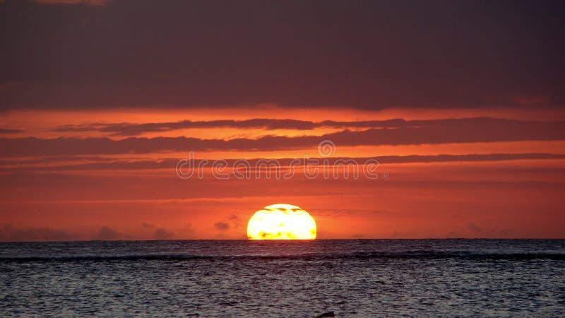 Zmierzch na Punta Cana plaży obraz royalty free