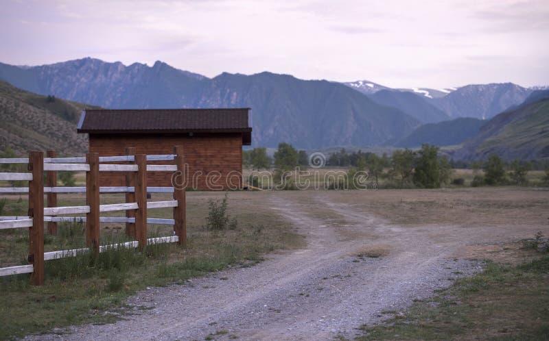Zmierzch na rancho fotografia stock