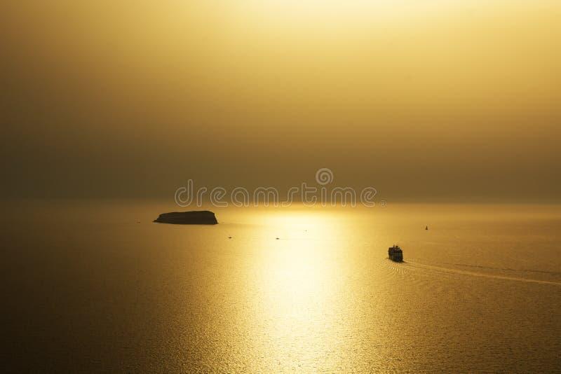 Zmierzch na Santorini zdjęcie royalty free