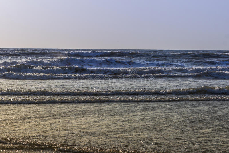 Zmierzch nad Arabskim morzem, ocean indyjski, na Arambol plaży, Goa, Wewnątrz fotografia royalty free
