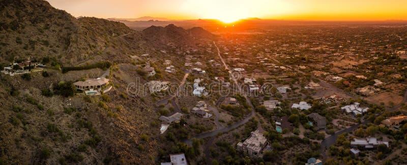 Zmierzch nad Arizona doliną zdjęcie stock
