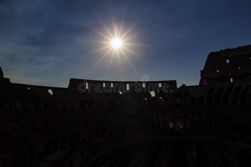 Zmierzch nad Colosseum fotografia royalty free