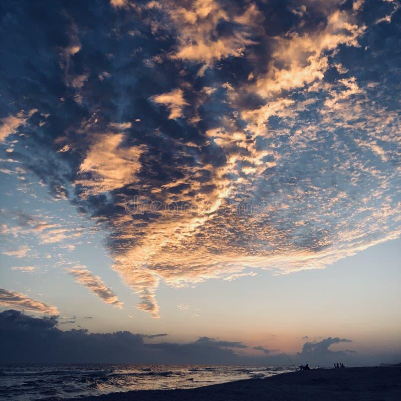Zmierzch nad Destin plażą obraz stock