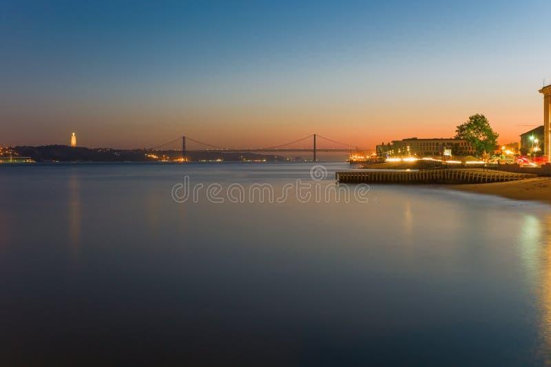 Zmierzch nad Lisbon zdjęcie stock