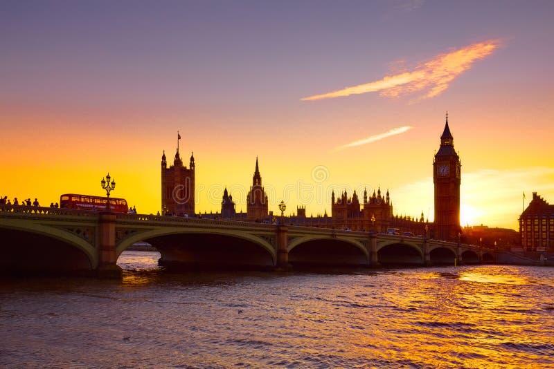 Zmierzch nad Londyn zdjęcie royalty free
