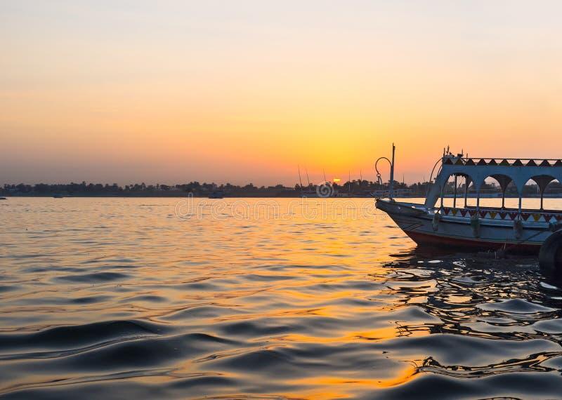 Zmierzch nad Nil obraz stock