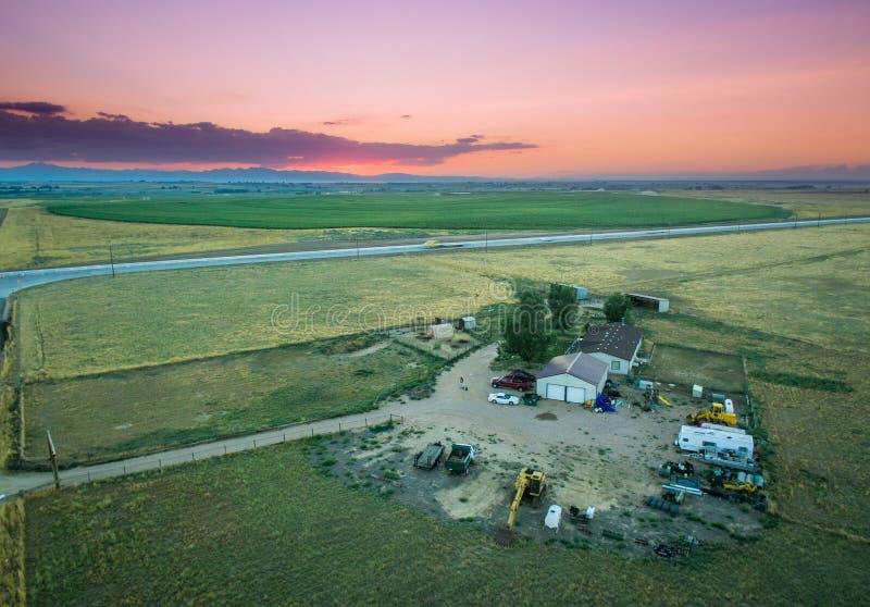 Zmierzch nad rancho zdjęcie royalty free