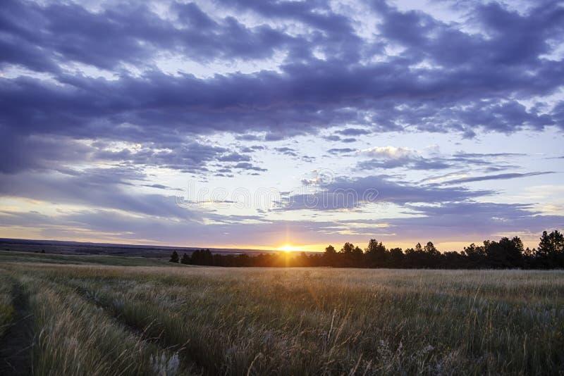 Zmierzch Nad Wyoming krajobrazem obrazy stock