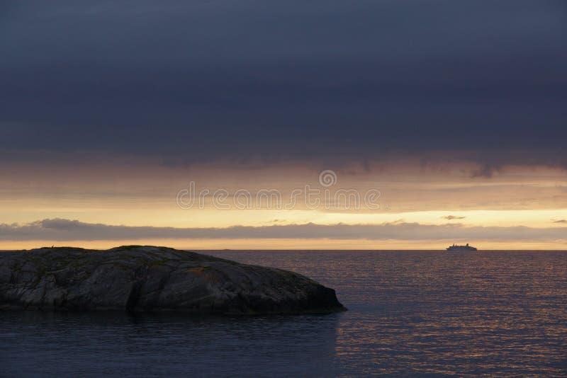 Zmierzch od Norwegia zdjęcie stock