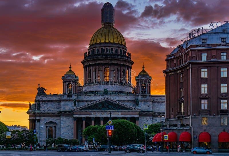 Zmierzch Petersburg obrazy stock