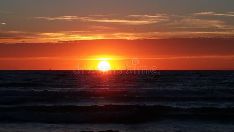 Zmierzch plażowe holandie zdjęcie stock