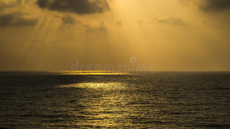 Zmierzch przy Apollonia plażą zdjęcie royalty free