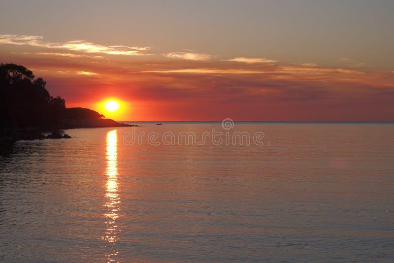 Zmierzch przy Fannie zatoką, zdjęcie royalty free