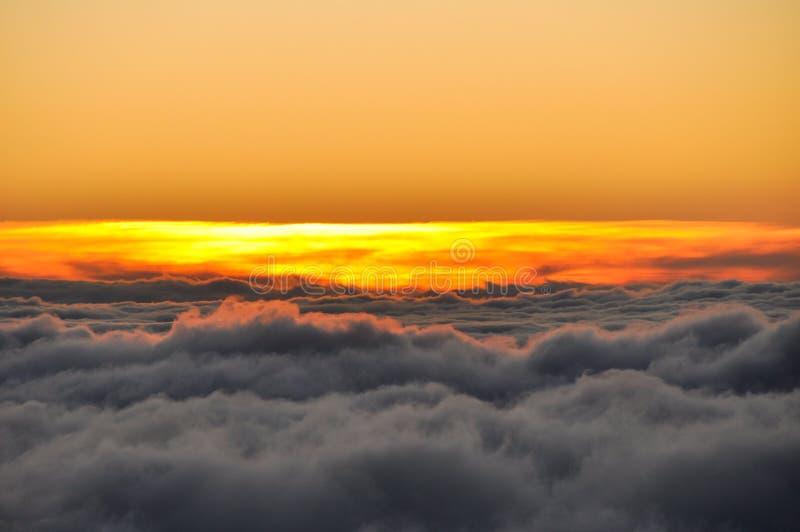Zmierzch przy Haleakala parkiem narodowym - Maui, Hawaje zdjęcia stock