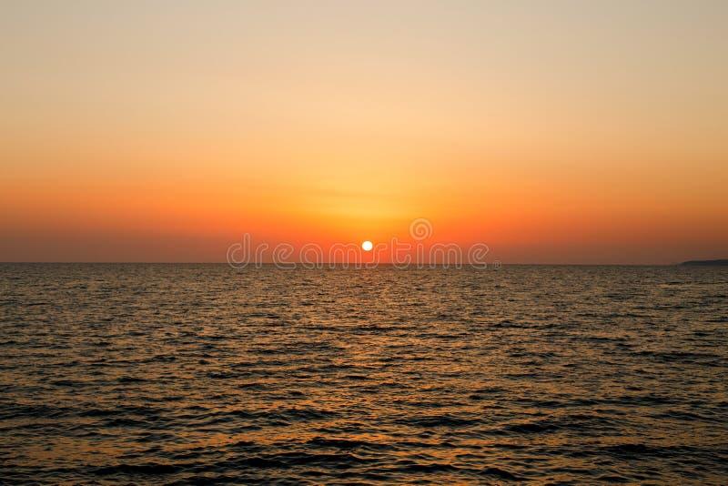 Zmierzch przy morzem obrazy royalty free