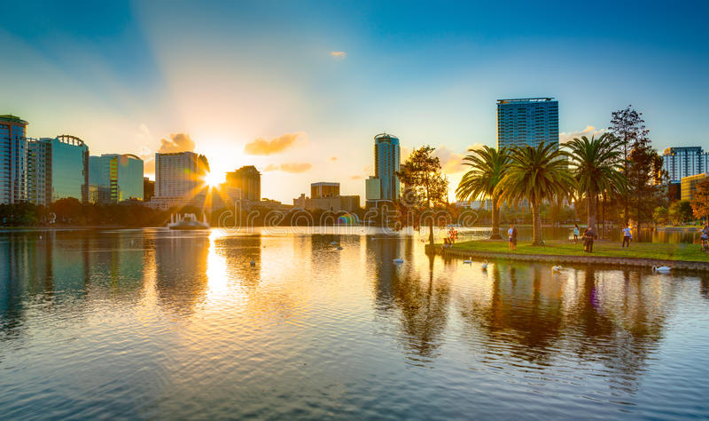 Zmierzch przy Orlando obraz stock