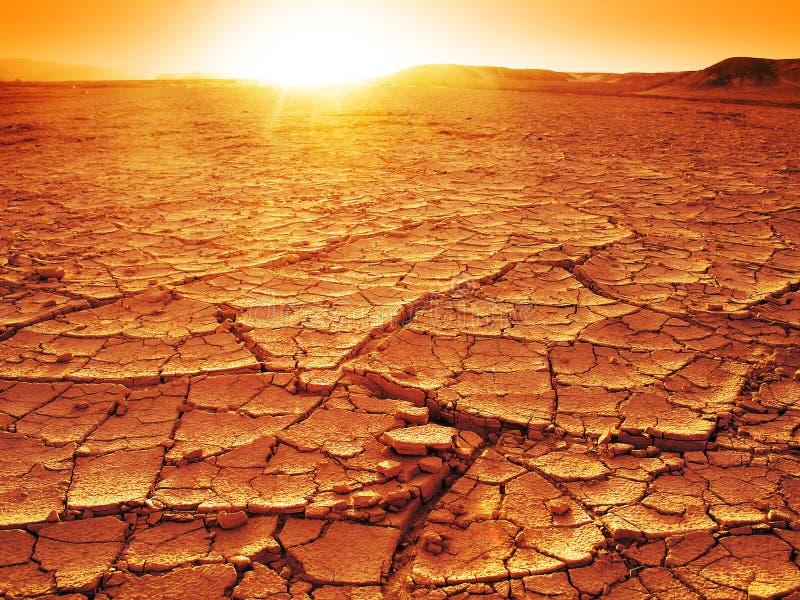 Zmierzch przy pustynią zdjęcia royalty free