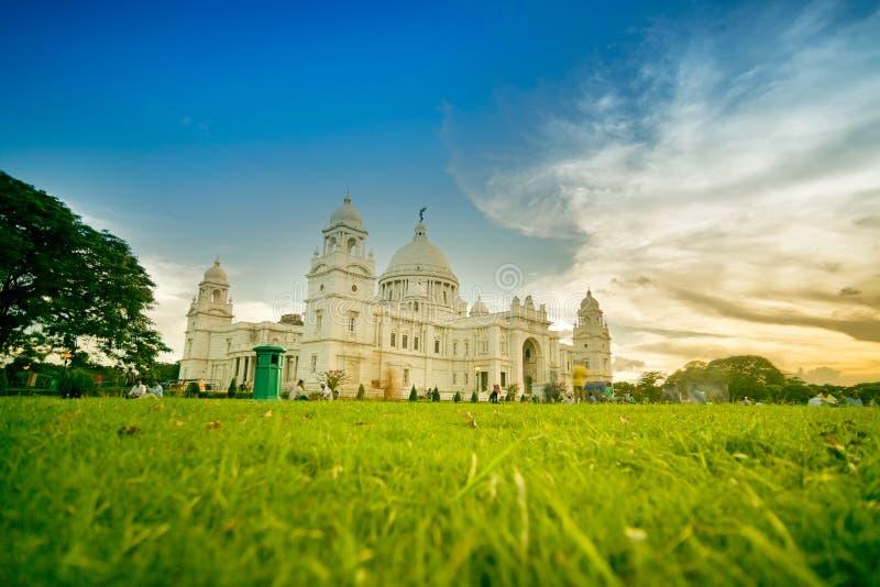 Zmierzch przy Wiktoria pomnikiem, Kolkata zdjęcia stock