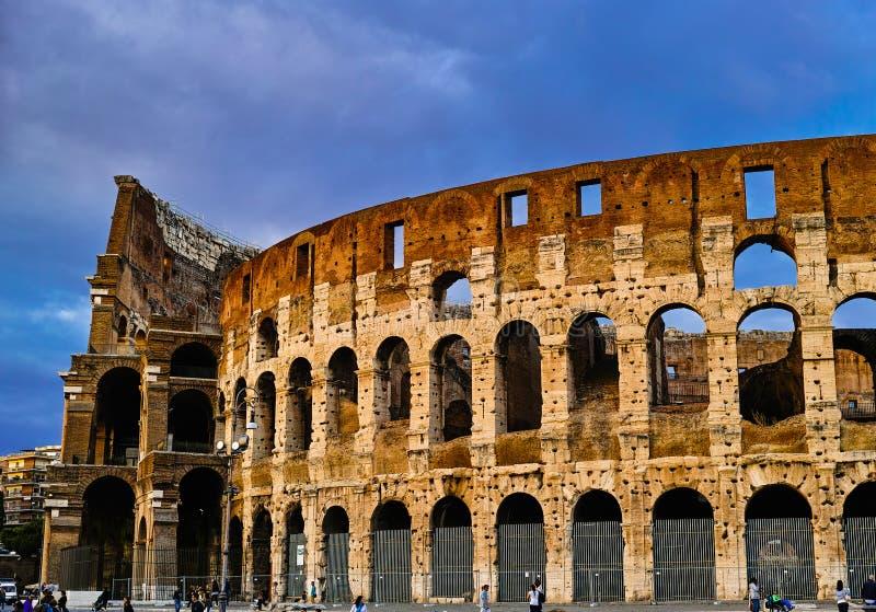 Zmierzch Rzym Colosseum zdjęcie royalty free