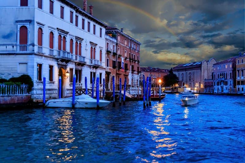 Zmierzch tęcza w Wenecja obraz stock
