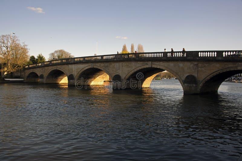 Zmierzch Thames Oxfordshire zdjęcie royalty free