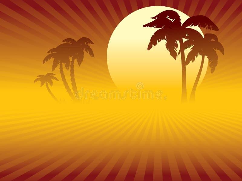 zmierzch tropikalny ilustracji