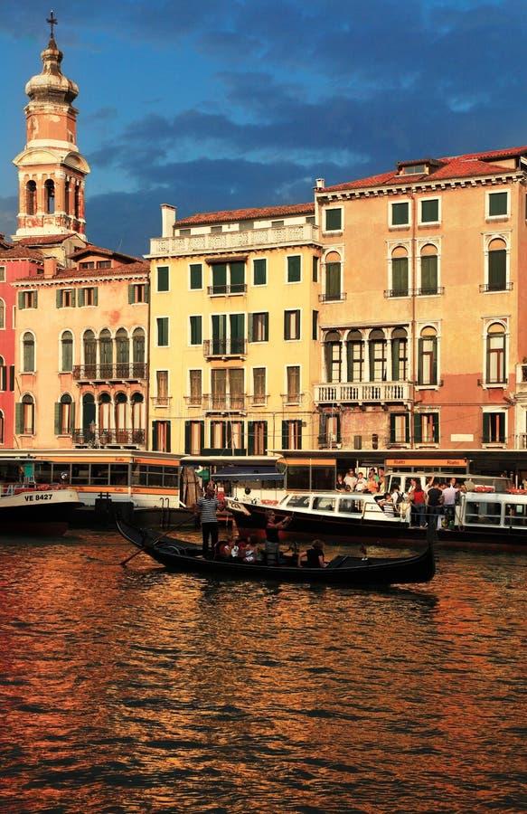 zmierzch Venice zdjęcie stock