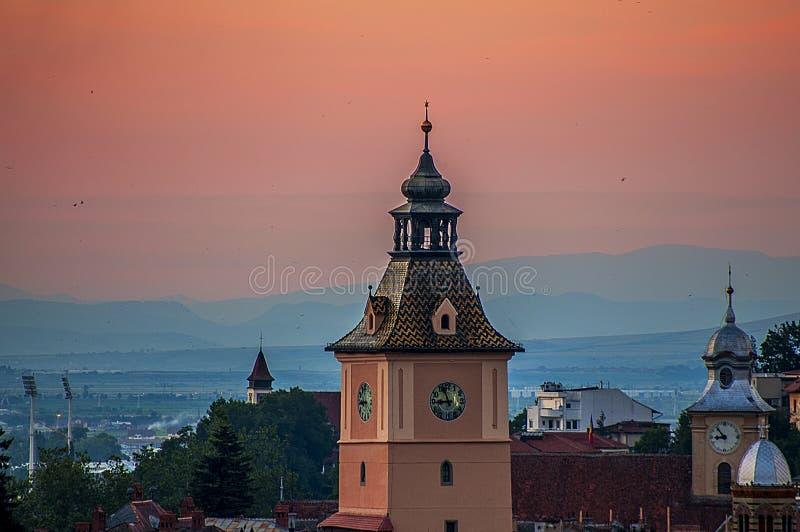 Zmierzch w Brasov zdjęcie royalty free