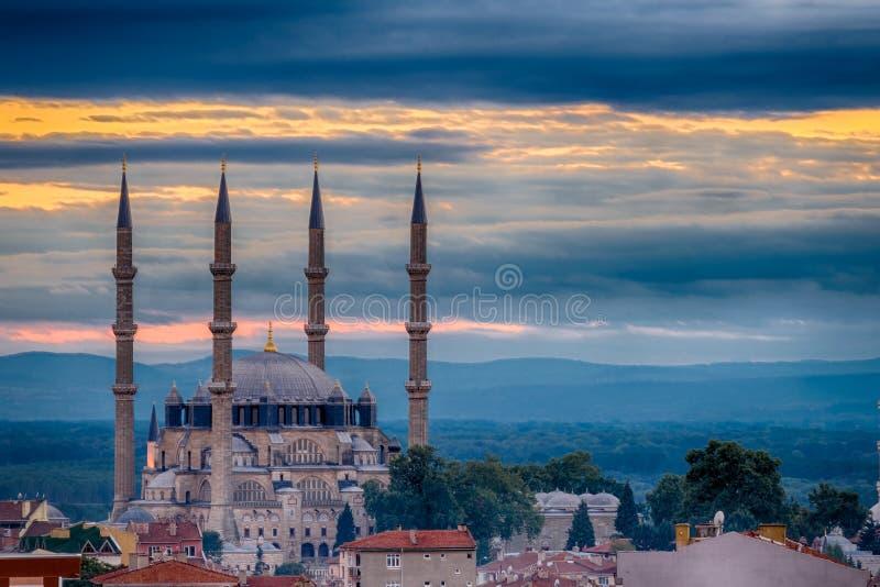 Zmierzch w Edirne zdjęcie stock