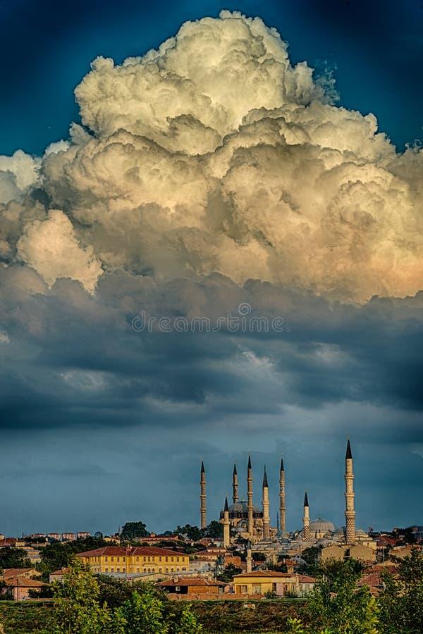 Zmierzch w Edirne obraz royalty free